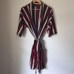 Vintage striped robe